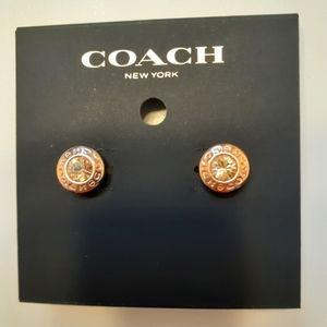 Coach earrings-like new! Worn twice!